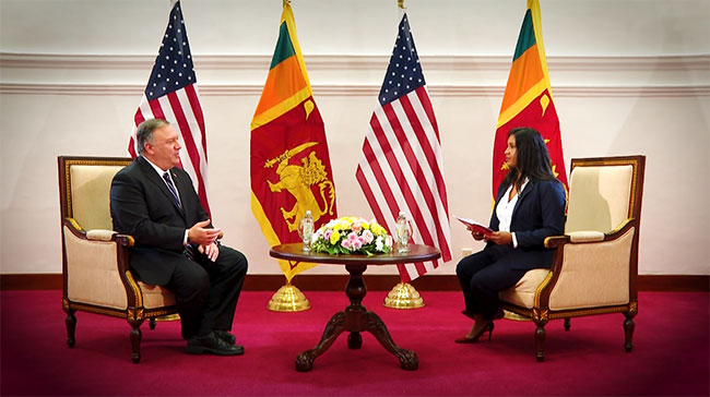 EXCLUSIVE: US won't attempt to use debt to extort actions by SL govt - Mike Pompeo