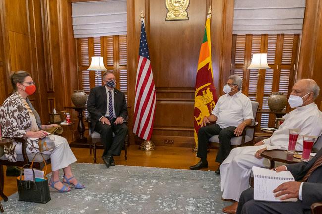 Sri Lanka has not fallen into a debt trap, President tells Pompeo