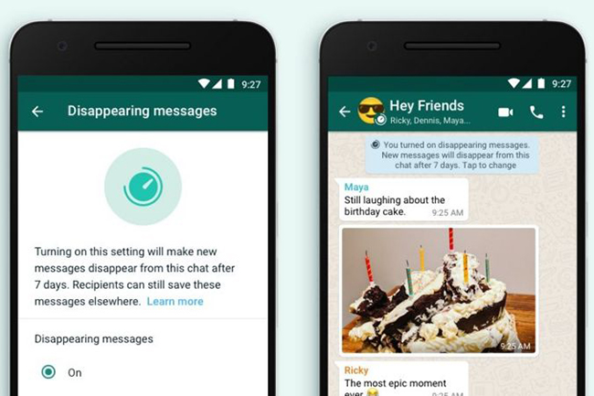 WhatsApp introduces 'disappearing messages' feature