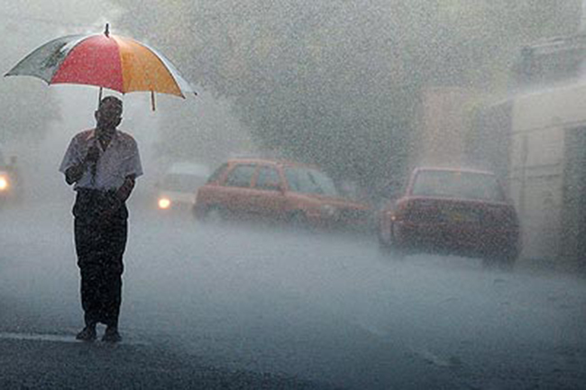 Heavy showers above 100mm expected in five provinces