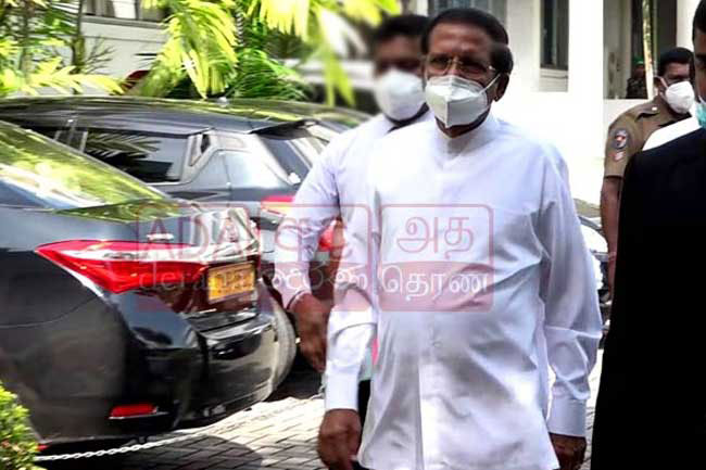 Maithripala arrives at PCoI on Easter attacks