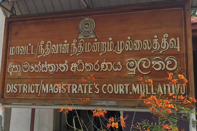 Senior AG's Dept. officers make submissions at Mullaitivu court to prevent 'Mahaviru' commemorations