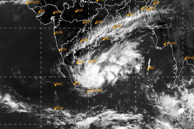 Northern, Eastern parts of the island to be affected by Cyclone 'Nivar'