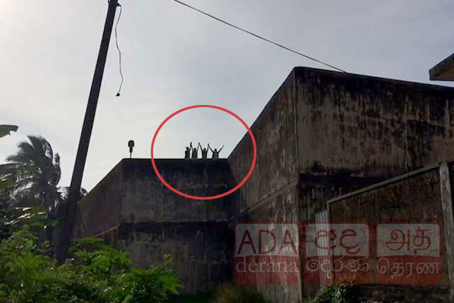 Inmates protest on Negombo Prison roof