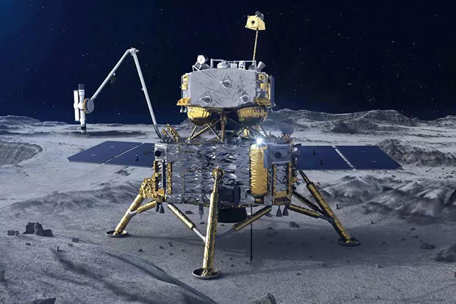 China spacecraft collects samples from moon to take back to Earth