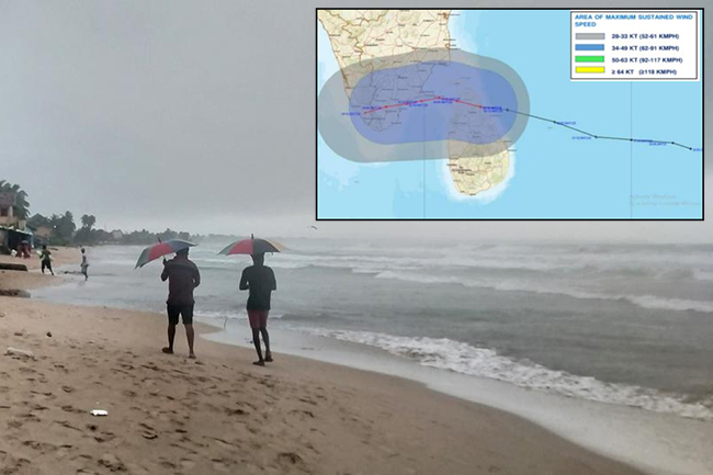 Influence of Cyclone 'Burevi' to gradually reduce today; downpours in North to continue