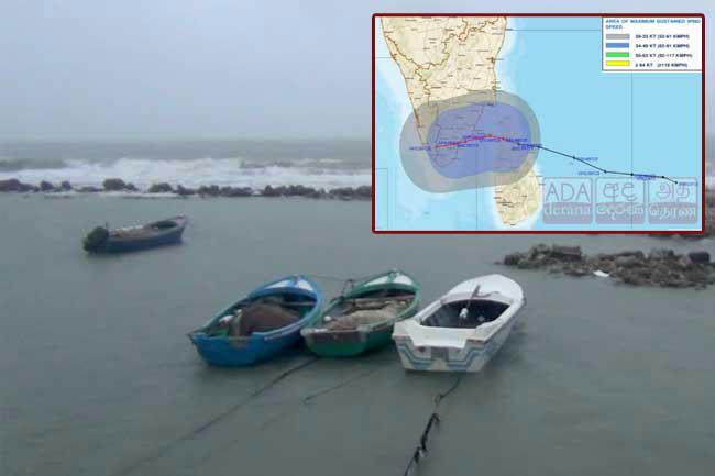 'Burevi' moving away from Sri Lanka