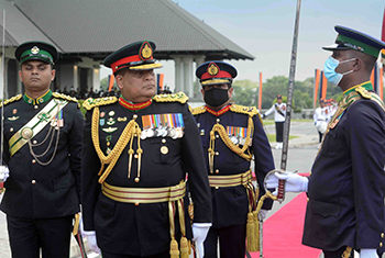Special military salute for General Shavendra Silva…