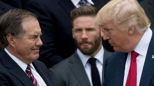 Bill Belichick declines Presidential Medal of Freedom from Trump
