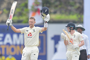 Root hits double century as England post 421