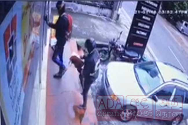 CCTV footage of armed robbery at Miriswatta