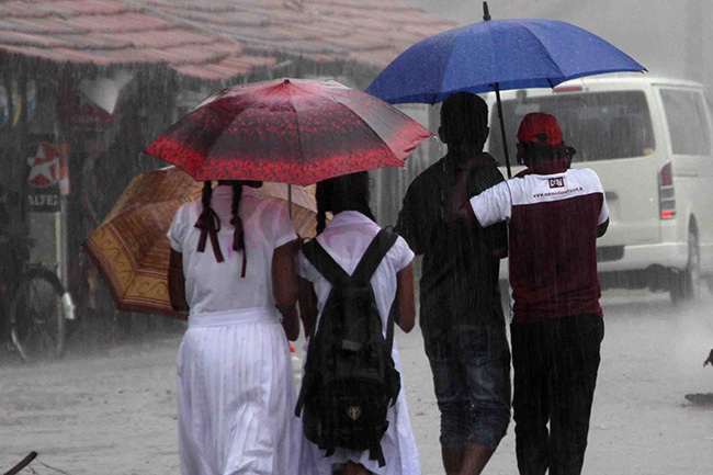Prevailing showery condition in three provinces to enhance