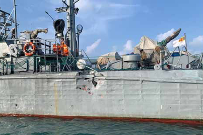 Naval operation to locate Indian fishermen on sunken poaching vessel in Lankan waters