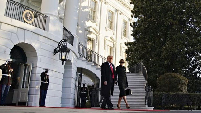Trump leaves White House for final time ahead of Biden inauguration