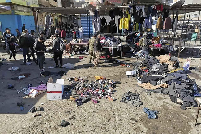 Nearly 30 killed in twin suicide blasts in Baghdad