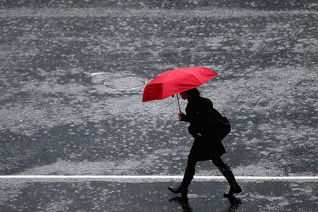 Showers or thundershowers expected in some areas after 2pm