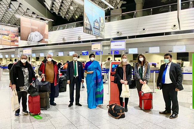 First group of tourists from Germany, Switzerland departs for Sri Lanka