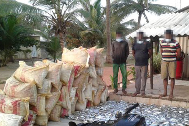 Three nabbed with smuggled in dried turmeric glyphosate consignment