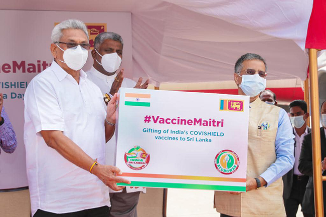 First consignment of COVISHIELD vaccines arrives in Sri Lanka