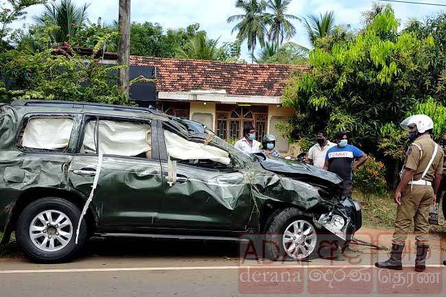 Arundika Fernando unharmed, three injured in accident