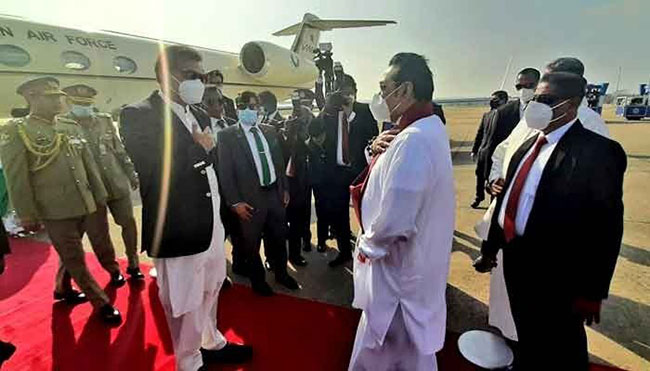 Pakistani PM Imran Khan arrives in Sri Lanka
