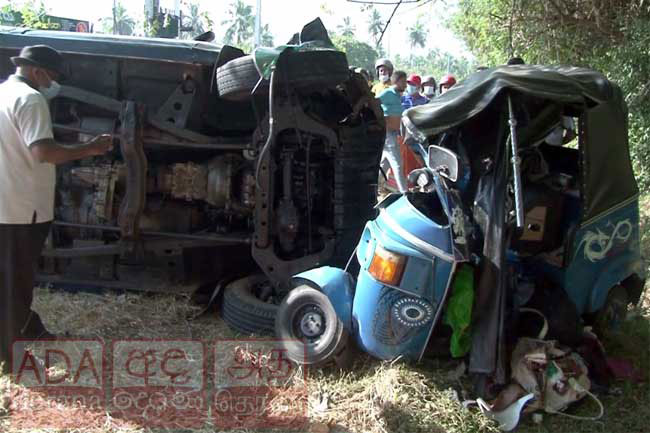Two of same family dies after police jeep collides with tuk