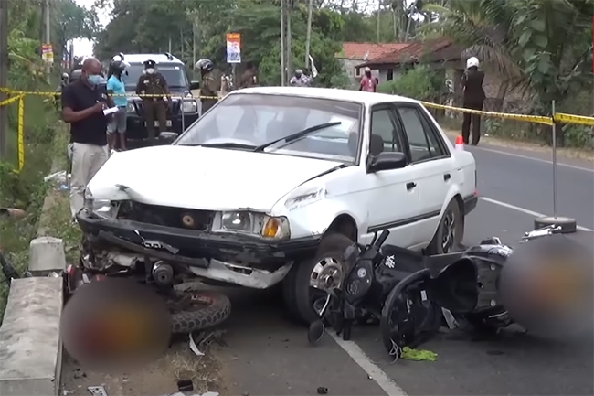 Man stabbed to death in allegedly staged motor accident