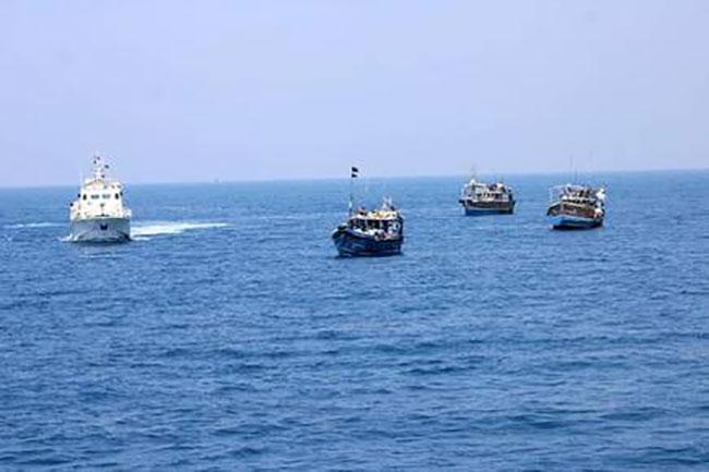 Indian Coast Guard seizes three Sri Lankan fishing boats for carrying narcotics