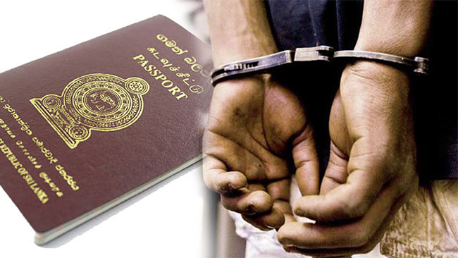 Three arrested with 98 passports at Bolgoda