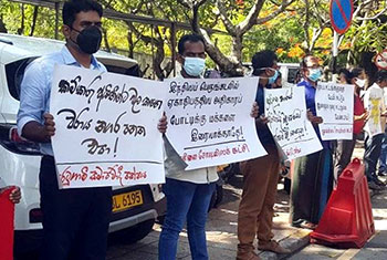 Protest against Port City Commission Bill...