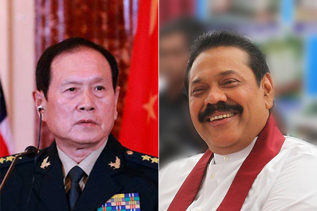Chinese Defence Minister holds bilateral talks with PM Rajapaksa