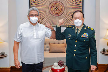 Chinese defence minister in Sri Lanka...