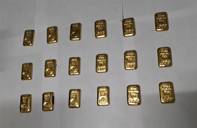 Passenger arrested with 18 gold biscuits at BIA
