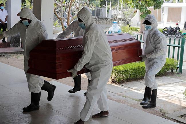 Sri Lanka records 55 new COVID-related fatalities