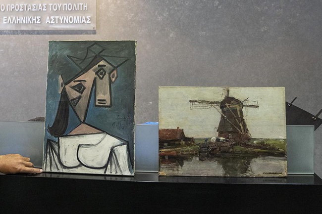 Greece recovers Picasso, Mondrian paintings stolen in 2012