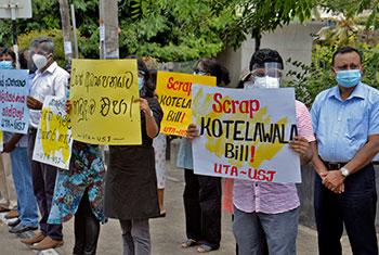 University teachers protest...
