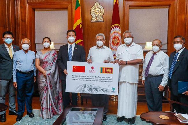 China donates 1.6 million more Sinopharm vaccines to Sri Lanka