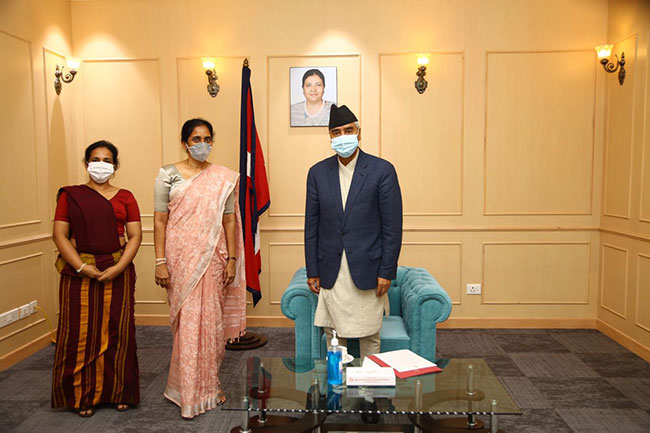 PM Rajapaksa congratulates newly appointed Nepali Prime Minister
