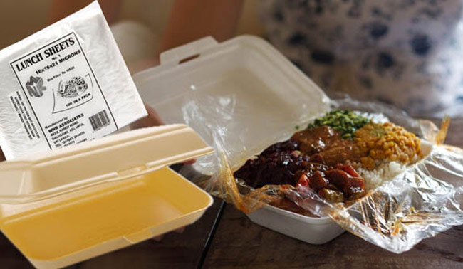 All non-degradable lunch sheets banned from August