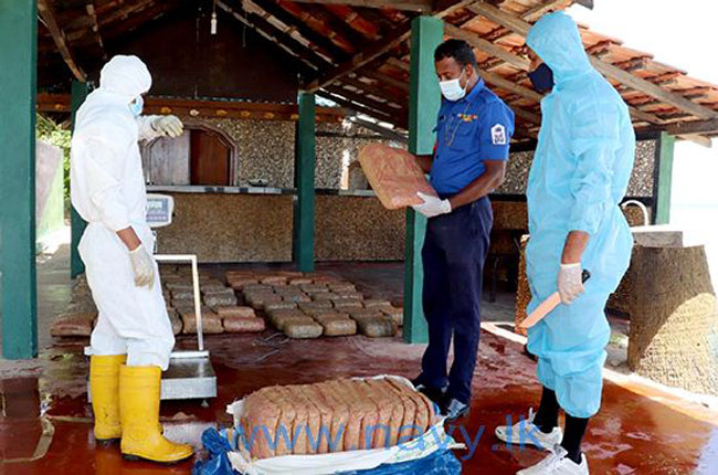 Over 417 kg of Kerala Cannabis seized by Navy