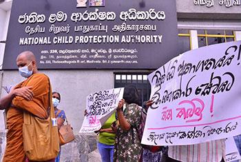 Protest against child labour...