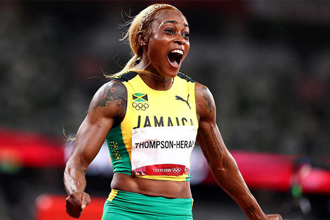 Jamaica's Elaine Thompson-Herah claims Tokyo Olympics gold to defend 100m title