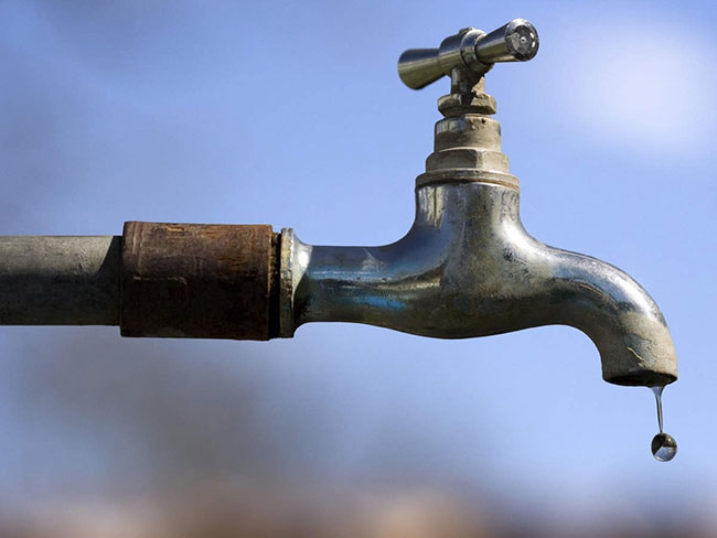 24-hour water cut in several areas