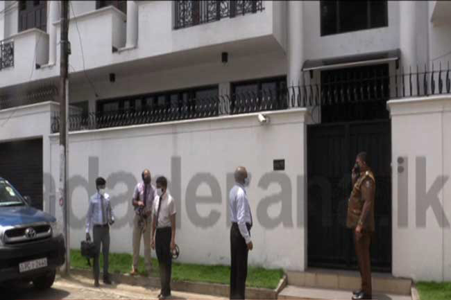 Officers of Govt Analyst's Dept visit Bathiudeen residence
