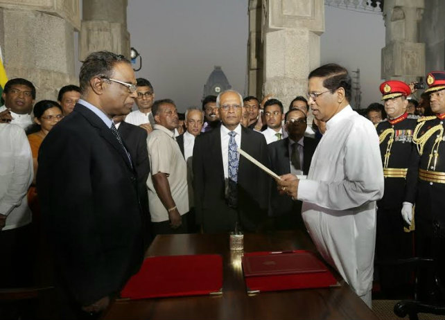Maithripala Sirisena takes oath as President