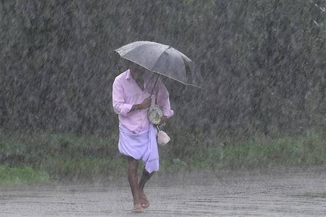 Fairly heavy showers above 75mm in three provinces