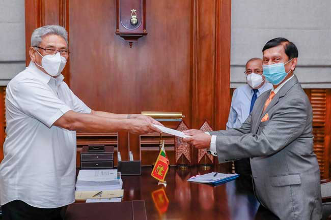 New CBSL Governor receives letter of appointment from President
