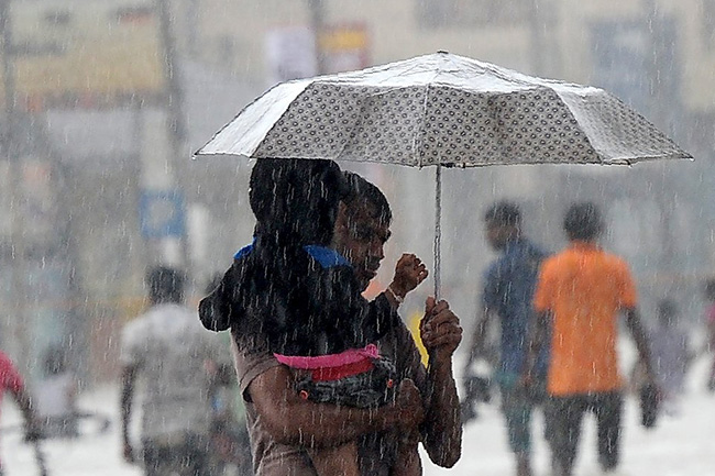 Parts of the island to receive fairly heavy rains today
