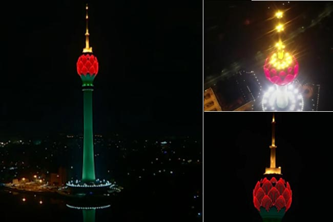 Lotus Tower lit up to mark World Patient Safety Day
