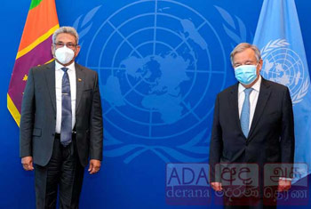 Guterres assures UN's fullest cooperation to promote racial unity in Sri Lanka